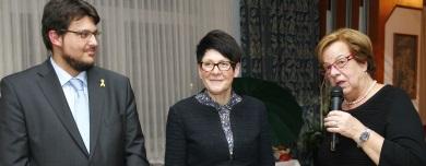 Tobias Krull, Edwina Koch-Kupfer MdL und die Braunschweiger Bürgermeister Friederike Harlfinger (v.l.n.r.)