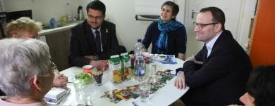 Diskussion bei der Magdeburger Freiwilligenagentu