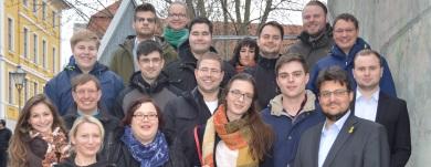 Im Kreise der Mitglieder der Jungen Union Magdeburg