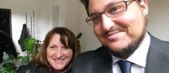 Heike Brehmer MdB und meiner Person nach der Sitzung