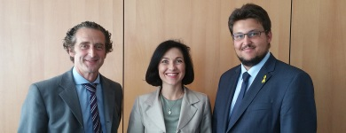 KPV-Hauptgeschäftsf. Tim-Rainer Bornholt, CDU-Bundesvorstandsmitglied Katherina Reiche und CDU-Kreisvorsitzender Tobias Krull MdL
