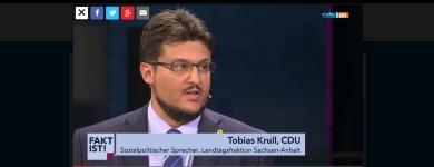 Screenshot aus der MDR-Mediathek zum Auftritt beim Fakt ist!