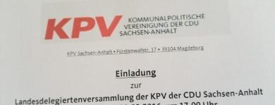 Einladung zur Landesdelegiertenversammlung der KPV Sachsen-Anhalt