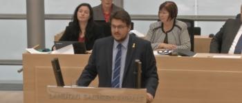 Rede im Landtag (Quelle: Screenshot Video Landtag Sachsen-Anhalt)