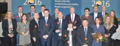 Der, fast, vollständige neugewählte Landesvorstand der CDU Sachsen-Anhalt.