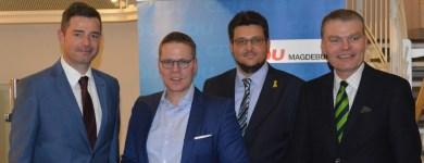 Mike Mohring MdL, Tino Sorge MdB, Tobias Krull MdL und Minister Holger Stahlknecht MdL (v.l.n.r)