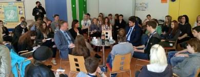 Diskussion mit Jugendlichen zur Zukunft Europas (Photo LKJ Sachsen-Anhalt)
