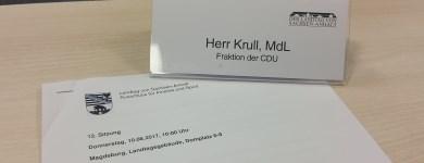 Sitzung des Ausschusses für Inneres und Sport am 10. August 2017