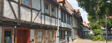 Fachwerkzeile in Quedlinburg