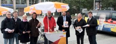 Infostand zur Bundestagswahl