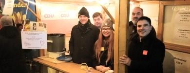 CDU-Stand beim Stadtfelder Weihnachtsspektakel