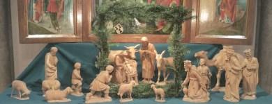 Eine Weihnachtskrippe die in der Marienkapelle im Dom zu Magdeburg steht