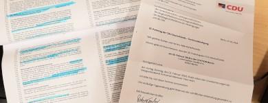 Entwurf des Koalitionsvertrages und Einladung zum Bundesparteitag