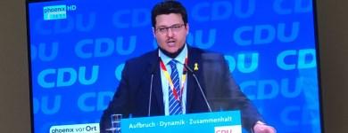 Beim Redebeitrag auf dem 30. Bundesparteitag der CDU
