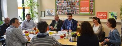 Im Gespräch bei der Magdeburger Freiwilligenagentur