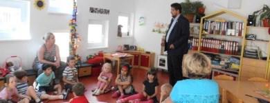 Beim Besuch einer Kindertageseinrichtung in Magdeburg