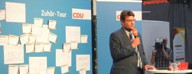 Auf der Zuhör-Tour der Bundes CDU.
