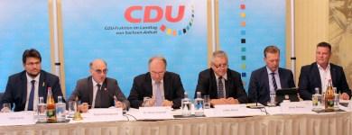 Podium während der Klausurtagung (Quelle CDU Landtagsfraktion)