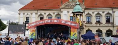 Die CSD-Bühne auf dem Alten Markt