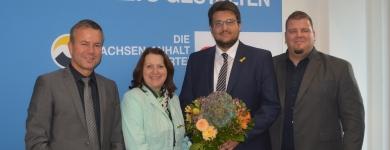 Bürgermeister Nico Schulz, Heike Brehmer MdB, Tobias Krull MdL und Bürgermeister Frank Nase (v.l.n.r.)