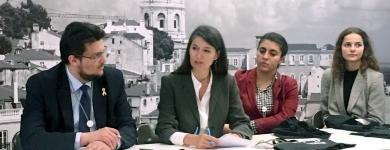 Diskussionsrunde bei der Ausschussreise