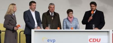 Besuch von Annegret Kramp-Karrenbauer in Magdeburg