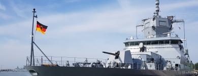 Die Fregatte SACHSEN-ANHALT in ihrem Heimathafen Wilhelmshaven