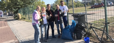Einsatz beim World Clean Up Day 2019