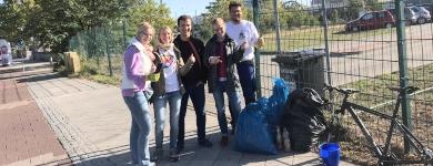 Einsatz beim World Clean Up Day 2019