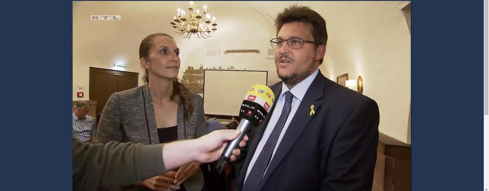 Interview für das RTL-Nachtjournal