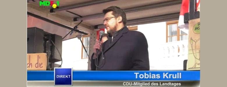 Rede bei der Demonstration von AMEOS-Beschäftigten (Screenshot MDF.1)