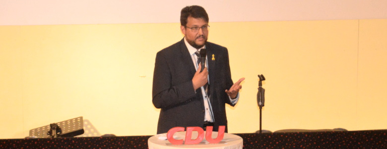 Begrüßung bei der Nominierungsveranstaltung für den Wahlkreis Magdeburg-West