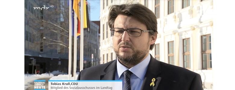 Interview mit MDR Sachsen-Anhalt (Screenshot 12.02.2021)