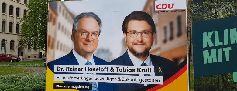 Eine der Großflächen zur Landtagswahl