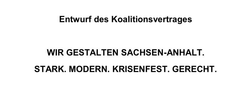 Titel des Koalitionsvertrages