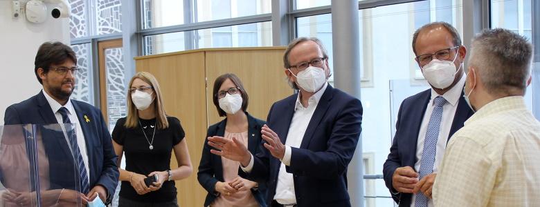 Besucher der ÖVP im Landtag